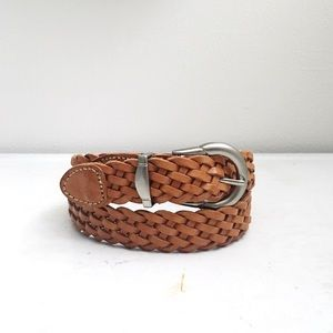 Vintage | Partners | Woven Leather Belt